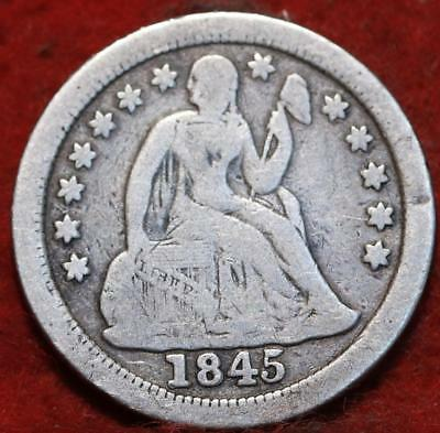 1845-O New Orleans Mint Silver Seated Liberty Dime