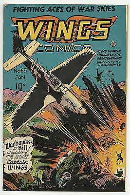 Wings Comics #65 Captain Wings - Suicide Smith - Jane Martin 6.0 FN