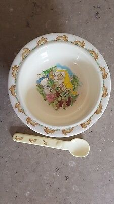 Royal Doulton Bunnikins Melamine Bowl And Spoon