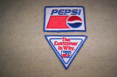 2 different PEPSI PATCHES VG+ PATCH coke coca cola 7 up dr pepper mtn dew a & w