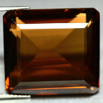 36.20 Ct Aaa! Natural! Cognac Color African Quartz Octagon