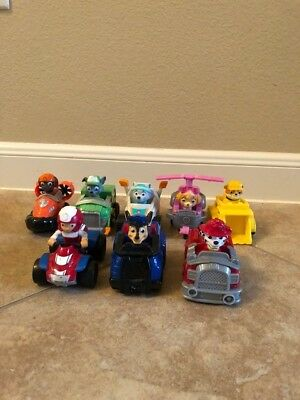Paw Patrol Racers Vehicles 8 Figures Toys Car Rescue