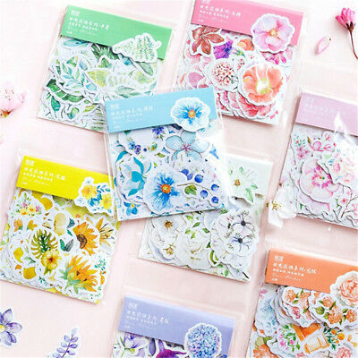 45x Kawaii Journal Diary Decor Flower Stickers Scrapbooking Stationery Supply GN