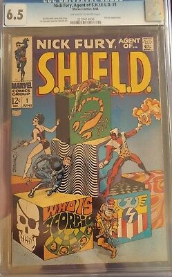 Nick Fury Agent of SHIELD #1 CGC 6.5 OW/W *1st Issue/Scorpio App* TAKING OFFERS!
