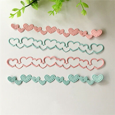 Love Banner Design Metal Cutting Dies For DIY Scrapbooking Album Paper Cards GN~