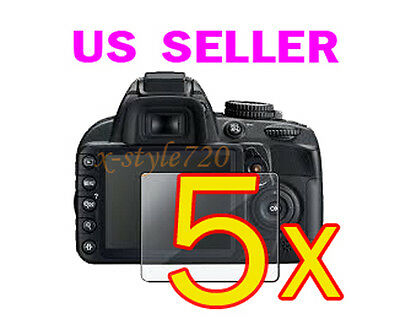 5x Nikon D5100 Camera Clear LCD Screen Protector Guard Cover Film