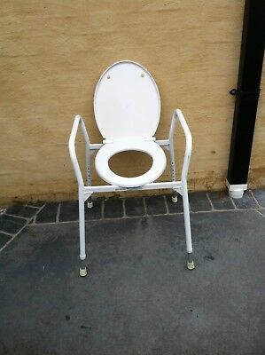 Over Toilet Seat Chair Quality Adjustable Height Steel Frame