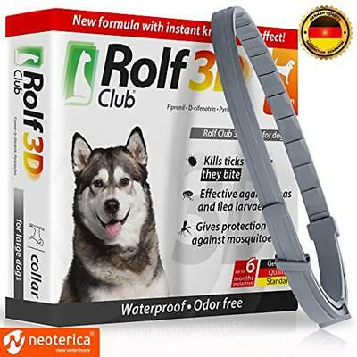 Rolf Flea & Tick Collars Club 3D FLEA For Dogs - Prevention Control 6 Months ...