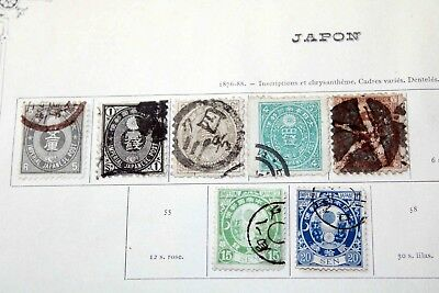 X Japan 1871/1900s: Interesting old collections on pages from an older estate