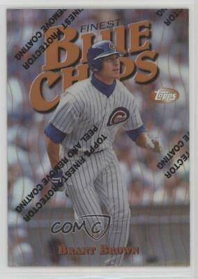 1997 Topps Finest Refractor #188 Brant Brown Chicago Cubs Baseball Card