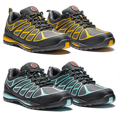 Safety Shoes S1P Yellow Turquoise Work Boots Protection Montageschuhe 38-47