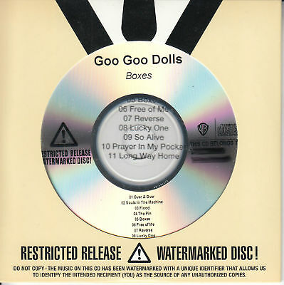 GOO GOO DOLLS Boxes 2016 US numbered 11-track promo CD SEALED LOW NUMBER