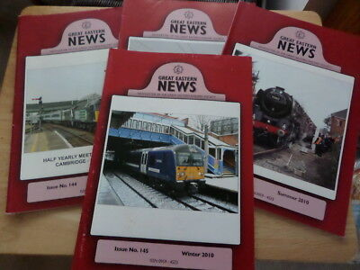 4 x ISSUES GREAT EASTERN NEWS - NEWSLETTER OF SOCIETY - 1 x 2005; 3 x 2010