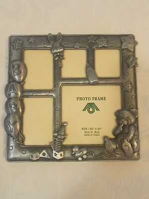 Pewter Photo Frame (standing) - Baby Theme. Excellent condition!