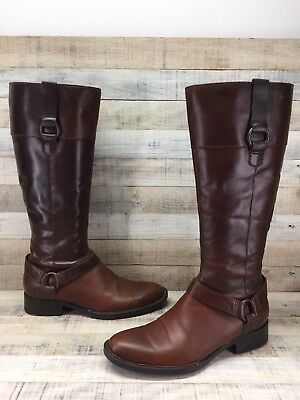 19ba062547a8 Born Brown Leather Knee High Ankle Harness Riding Boots Women s sz 7.5