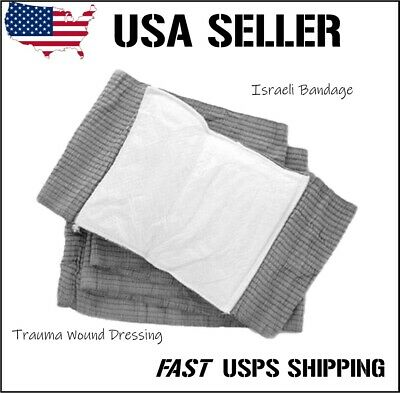 "2 pcs 6"" Israeli Bandage Type Emergency Trauma Wound Dressing Military Type"