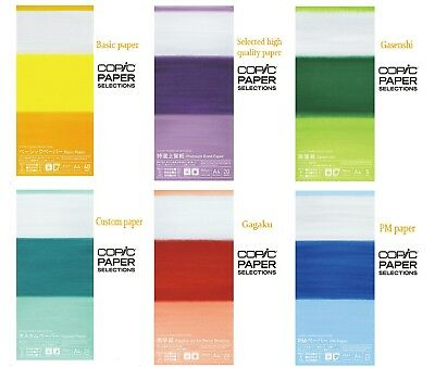 Copic paper selection Six types of paper F/S