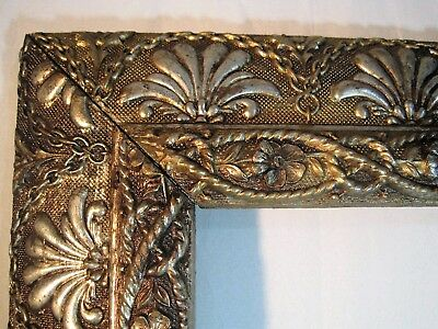 Antique Victorian Picture Frame Mid-1800`s 15 x 30 Art Ornate Fans & Chains  VG