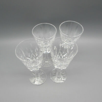 SET OF FOUR - Waterford Crystal LISMORE Sherry Glasses