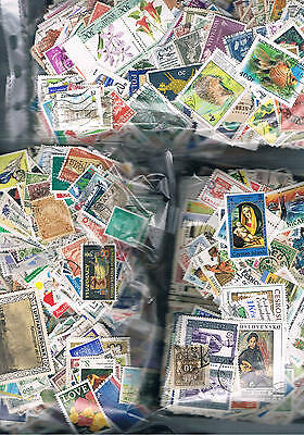 4000 Plus. WORLDWIDE STAMPS OFF PAPER SUPER LOT P