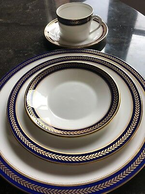 Coalport Bone China Blue Wheat 5 piece place setting~up to 6 settings available