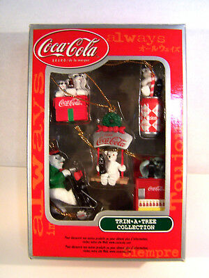 Coca Cola  Trim A Tree Miniature Collection Ornaments  New In Package Lot 2