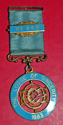 1962 LODGE OF Sincerity 1863 SILVER MASONIC MEDAL by Toye