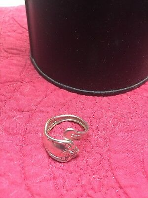 Womens Vintage Silver Spoon Ring
