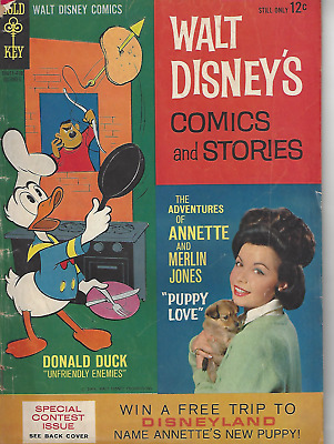 Walt Disney's Comics and Stories #289 1964 Gold Key Annette Donald Duck VG