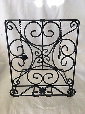 Longaberger~Wrought Iron Metalworks Cook Book Holder~French Country Decor