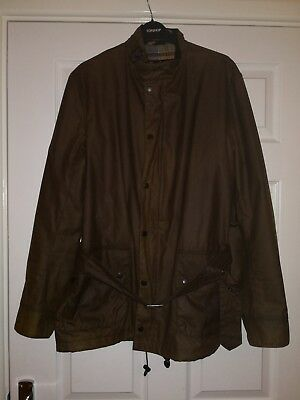 Mens Barbour Lifestyle Ashby Waxed Cotton Field Jacket, Olive, Large