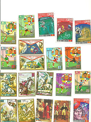 24  Different Postage Stamps from Equatorial Guinea..