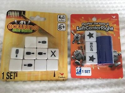 Set of 2 Family / Party Dice Games - Left Center Right & Bowling - Brand New