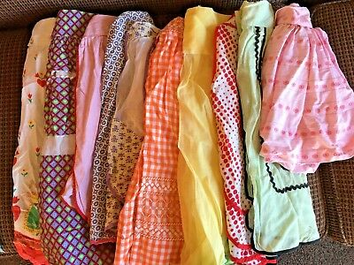 20 Vintage Kitchen Half Aprons Sheer, Gingham, Crochet, Hostess, Various Lot 2