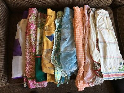 20 Vintage Kitchen Half Aprons Sheer, Gingham, Pleated, Hostess, Various Lot 3