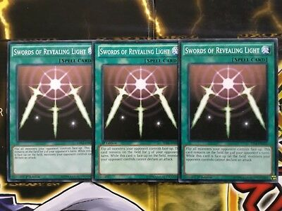 Yugioh x3 Swords of Revealing Light - Common LP/NM Playset
