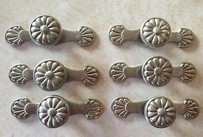 Lot Of 6 Drawer Pulls/Door Knobs With Back Plates - Chrome - Allen & Roth