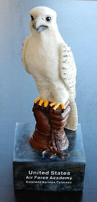 """US Air Force Academy Falcon Mascot Figurine 10"""" tall including 3/4"""" high base"""
