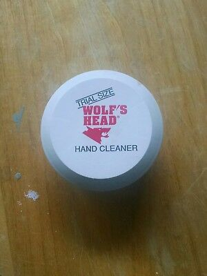 Vintage Wolfs Head Oil Hand Cleaner Sample Size Advertising Empty