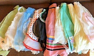 10 Vintage Sheer Hostess Aprons Half Aprons Kitchen Lot 1