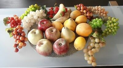 Misc Lot of FAUX FRUIT Home Decor Decorative Fruits Life size, SO LIFE LIKE