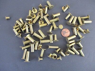 Pack of Antique Brass Mixed Lot of 80 pcs Punch Style Rivets Real Brass