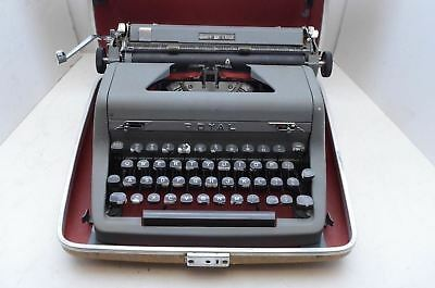 Vintage Royal Quiet Deluxe Gray Portable Typewriter with Case