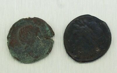 Genuine  Ancient Greek Two Coin Set