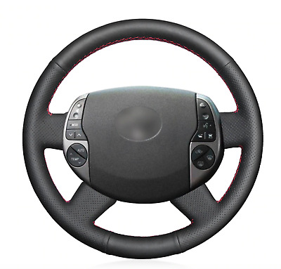 Black Artificial Leather Car Steering Wheel Cover for Toyota Prius 2004-2009
