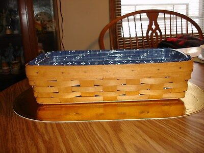 1994 Longaberger Basket W/fabric Liner And Plastic Protector - Great Condition