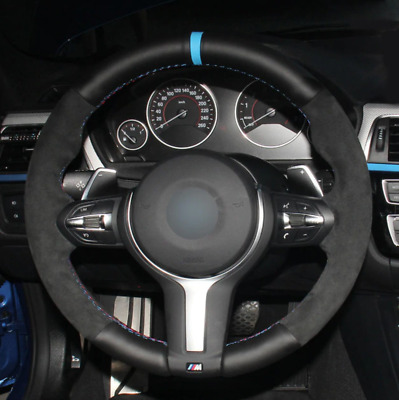 Bmw F87 M2 F80 M3 F82 F12 F13 F85 F86 F33 F30 Alcantara + Leather Steering Cover