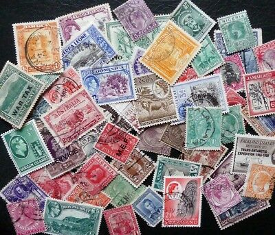Britiish Commonwealth mix of over 50 stamps, majority in good condition
