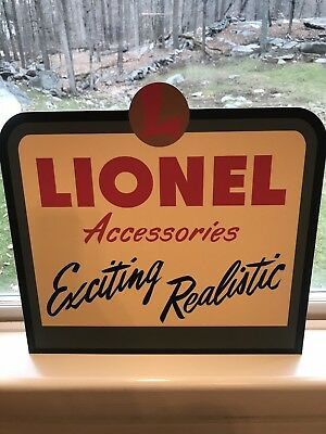 Lionel Trains Dealer Store Display Double Sided Sign Excellent