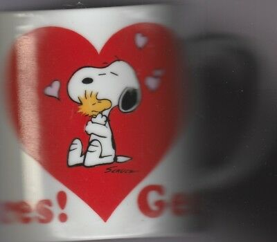 Cute Snoopy Gee, Somebody Cares Ceramic Mug for Valentines